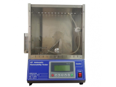 EN71 Flammability Testing Equipment 45° Automatic Flammability Tester 220V , 50Hz 0-99.9S